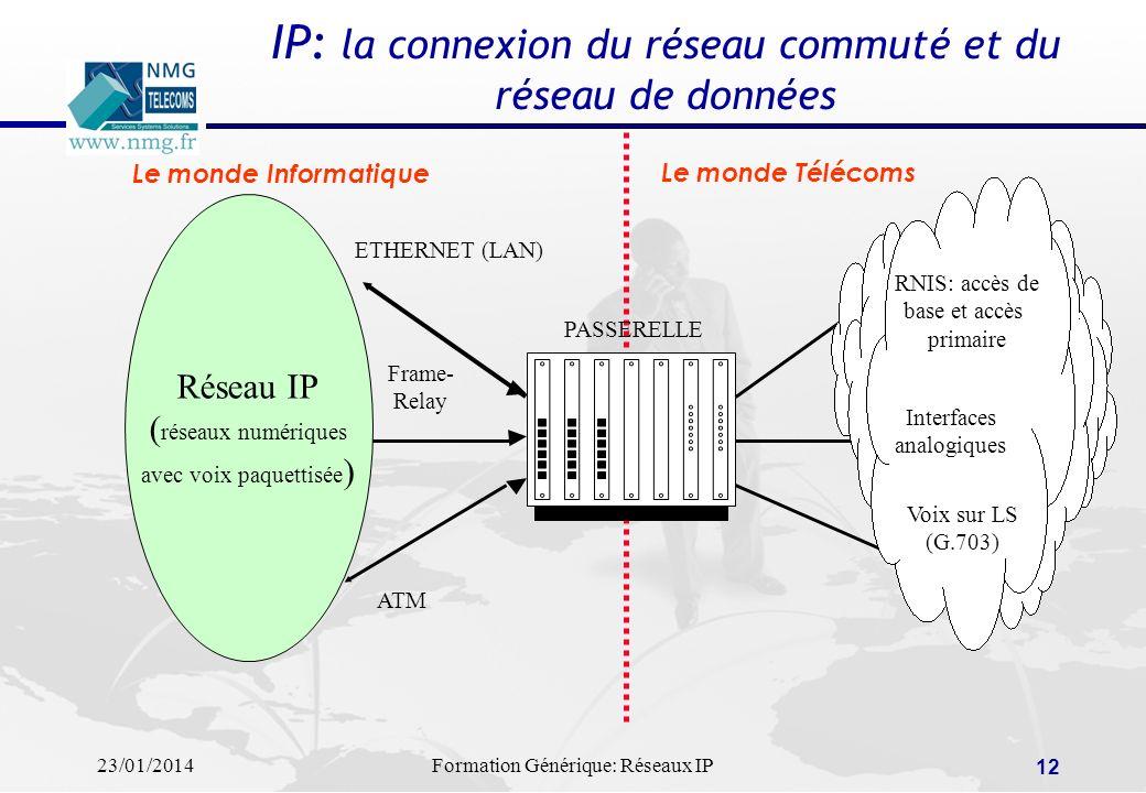 IP: la connexion du réseau commuté et du réseau de données