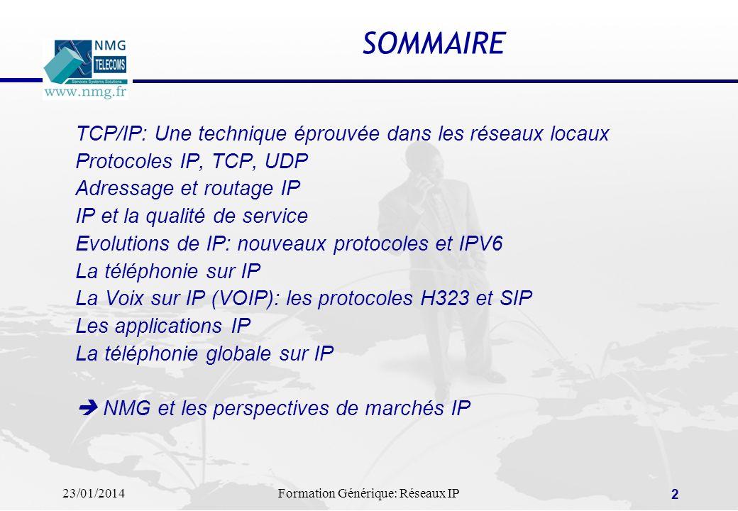 SOMMAIRE TCP/IP: Une technique éprouvée dans les réseaux locaux