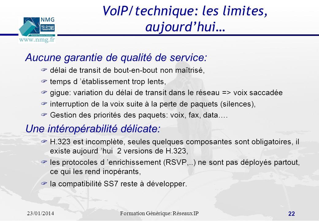 VoIP/technique: les limites, aujourd'hui…