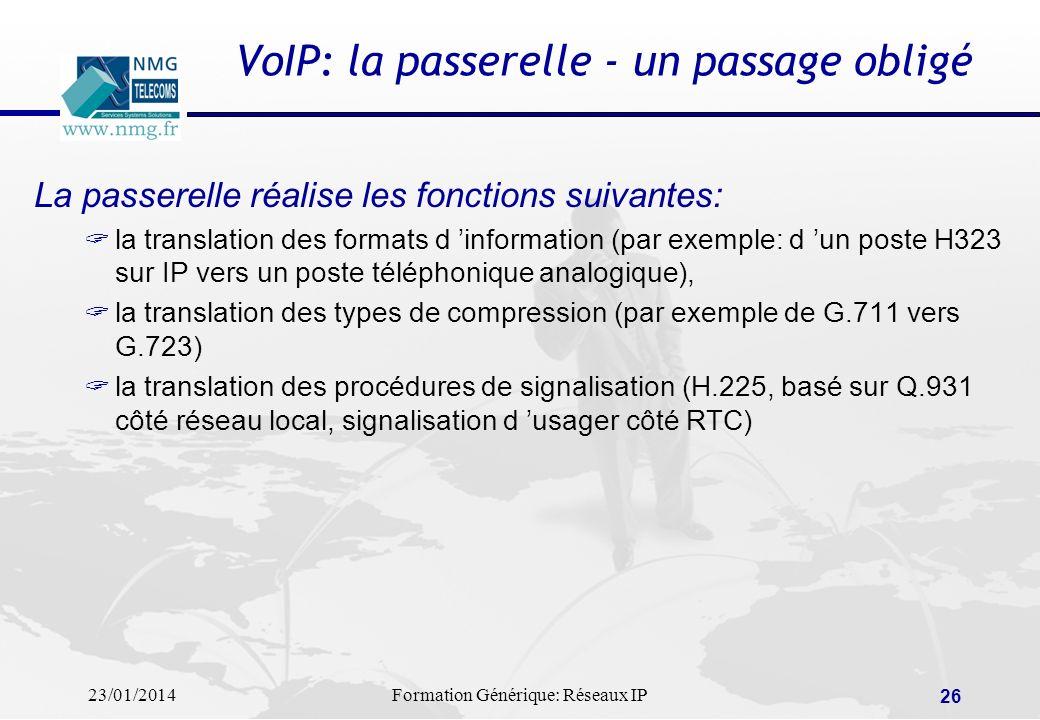 VoIP: la passerelle - un passage obligé