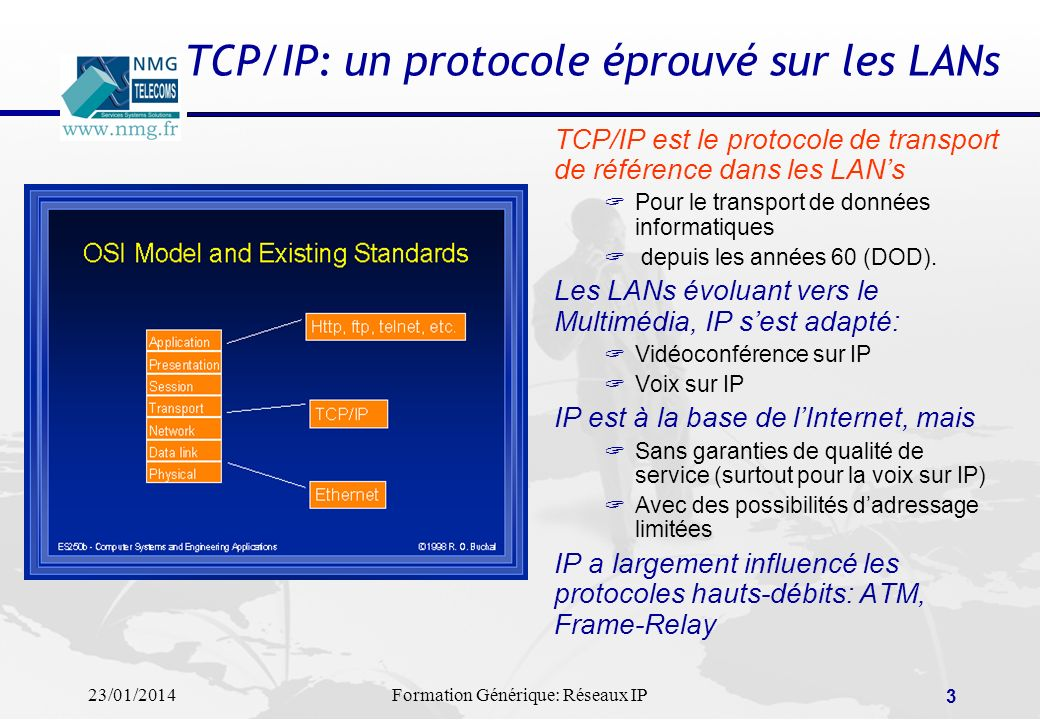 TCP/IP: un protocole éprouvé sur les LANs