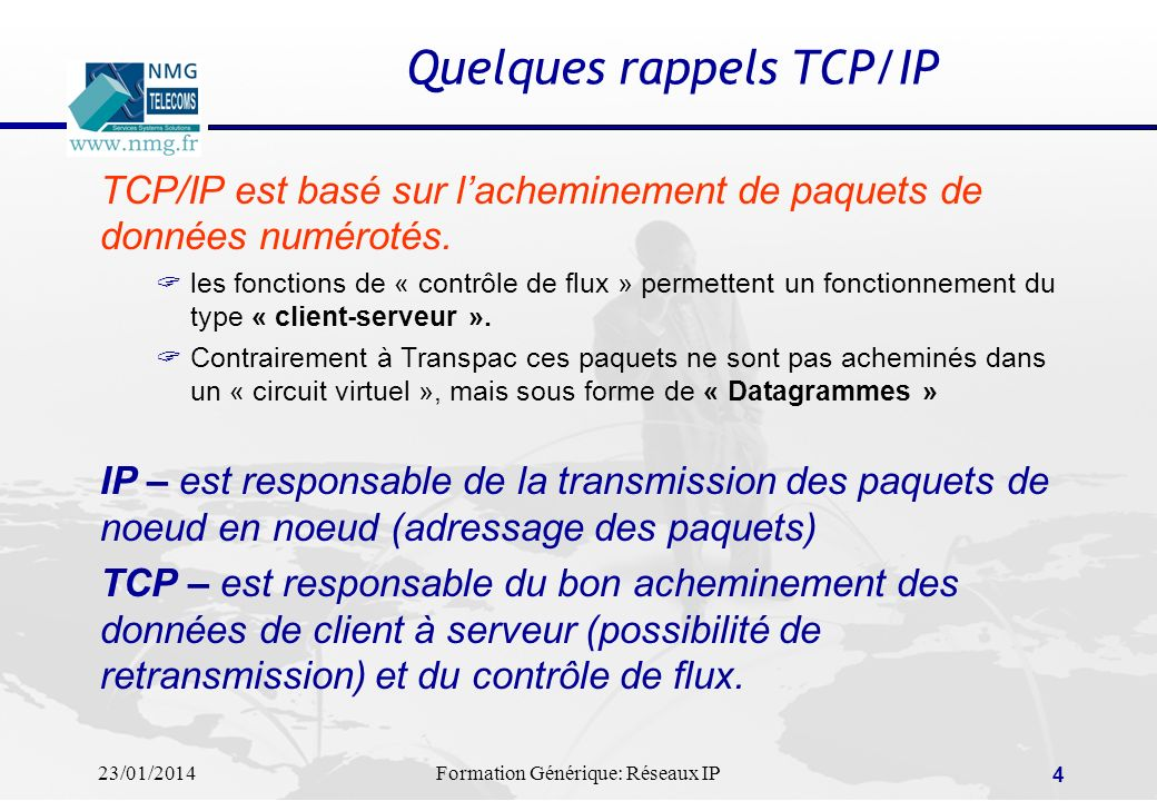 Quelques rappels TCP/IP