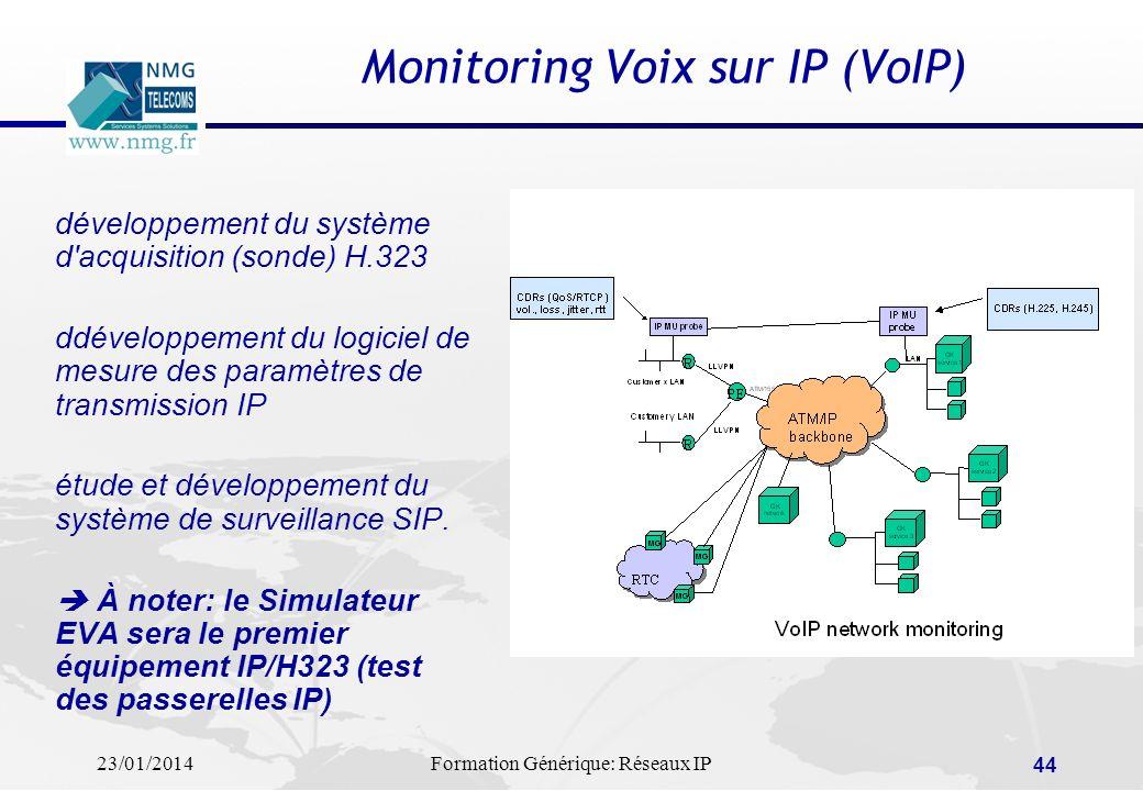 Monitoring Voix sur IP (VoIP)