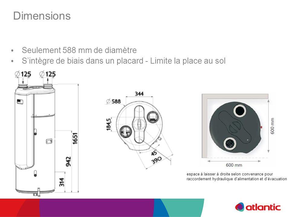 Dimensions Seulement 588 mm de diamètre