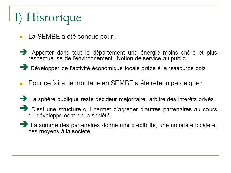 I) HistoriqueLa SEMBE a été conçue pour :