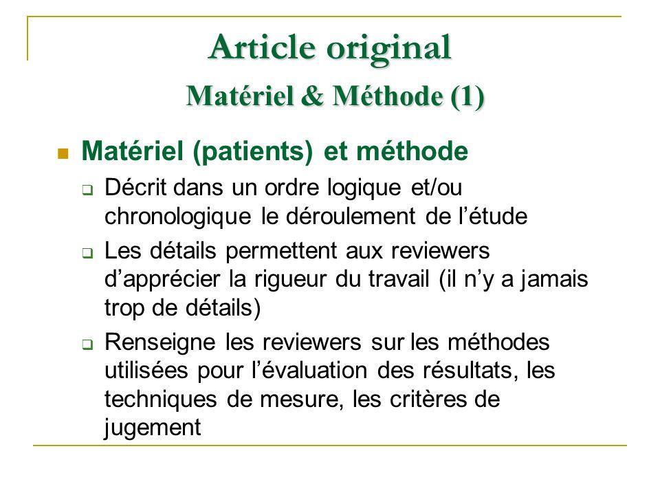 Article original Matériel & Méthode (1)