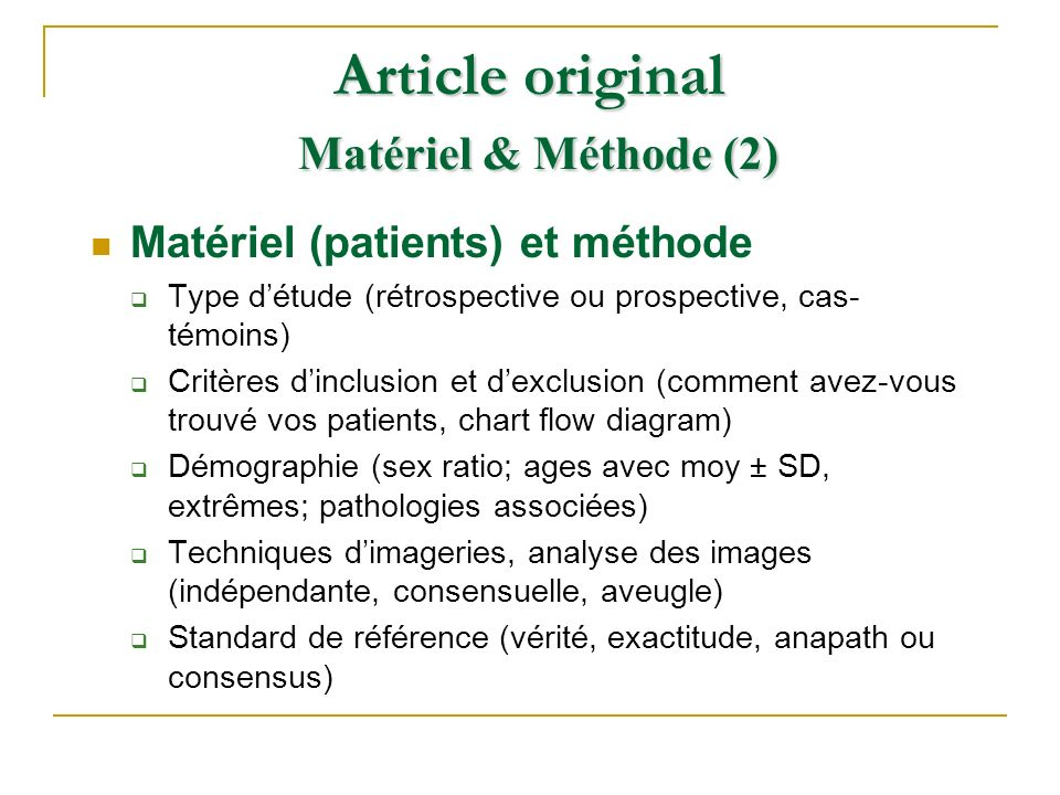 Article original Matériel & Méthode (2)