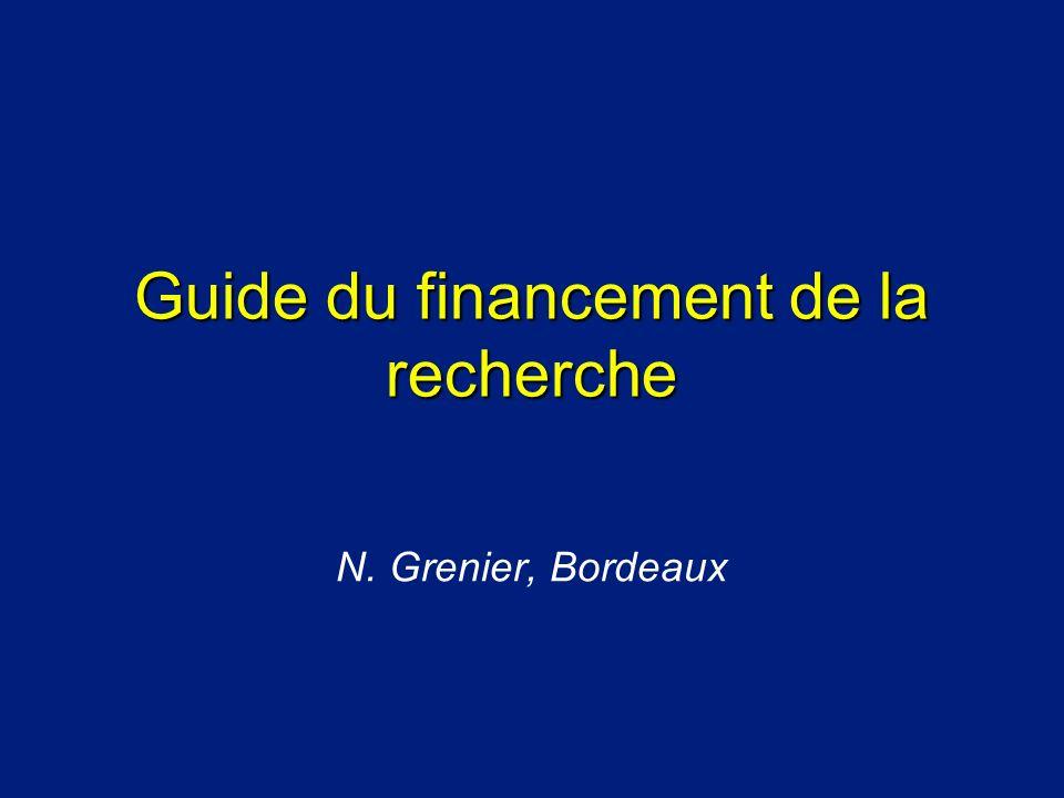 Guide du financement de la recherche