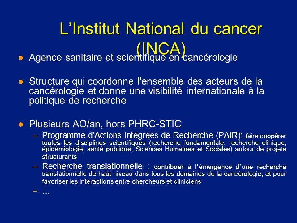 L'Institut National du cancer (INCA)