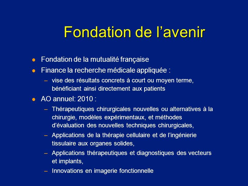 Fondation de l'avenir Fondation de la mutualité française