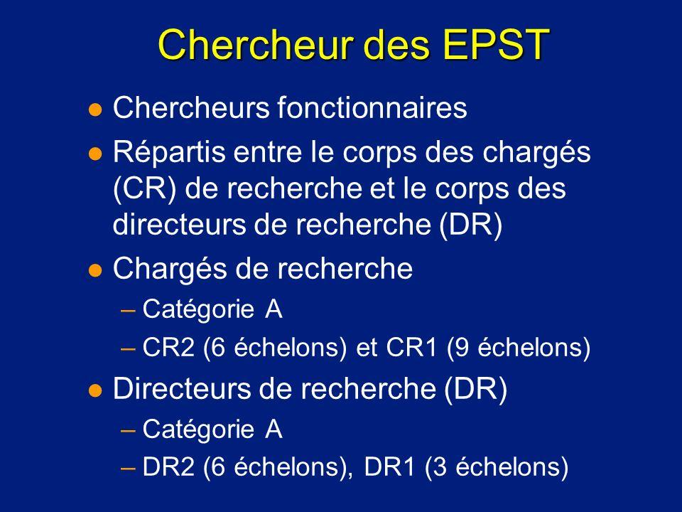 Chercheur des EPST Chercheurs fonctionnaires