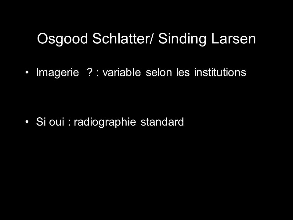 Osgood Schlatter/ Sinding Larsen