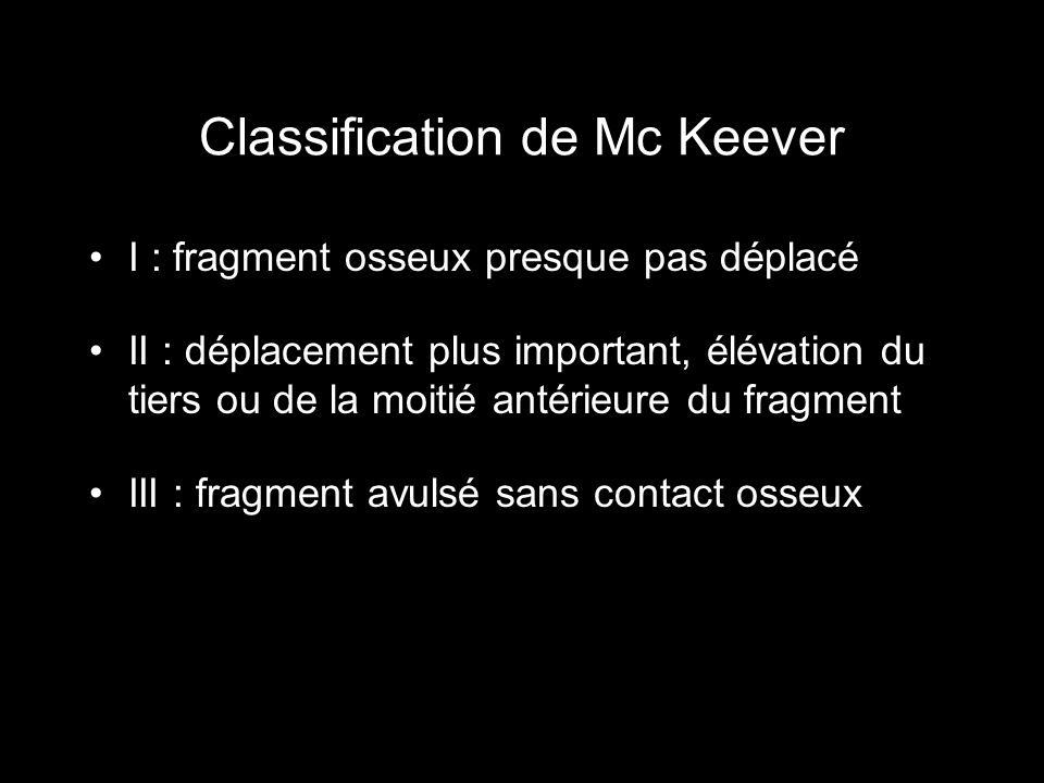 Classification de Mc Keever