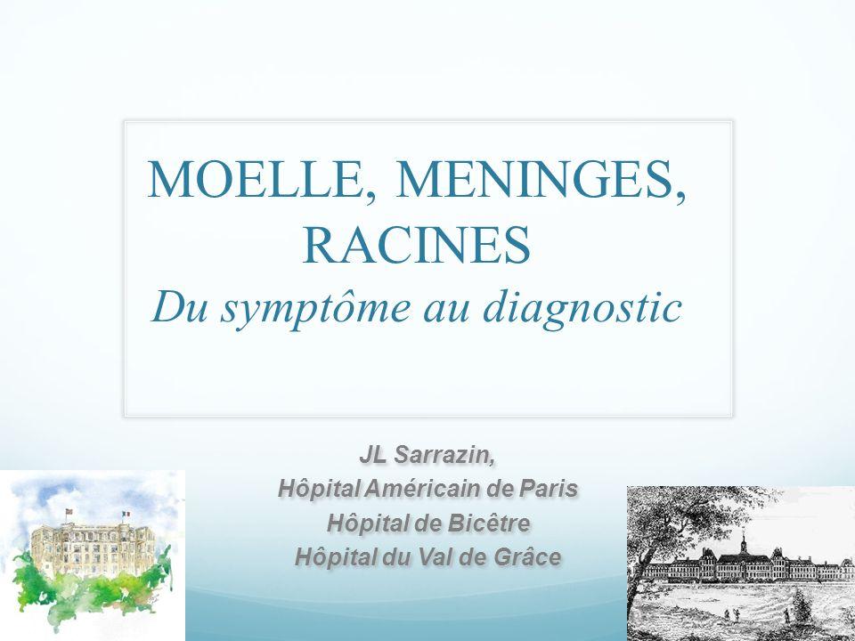 MOELLE, MENINGES, RACINES Du symptôme au diagnostic