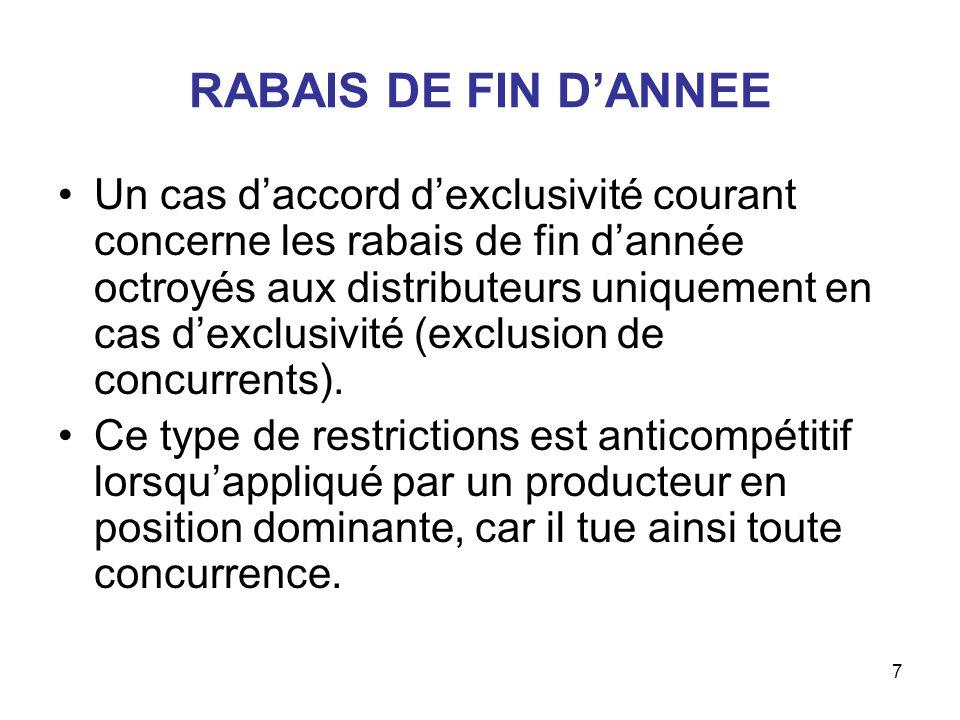 RABAIS DE FIN D'ANNEE