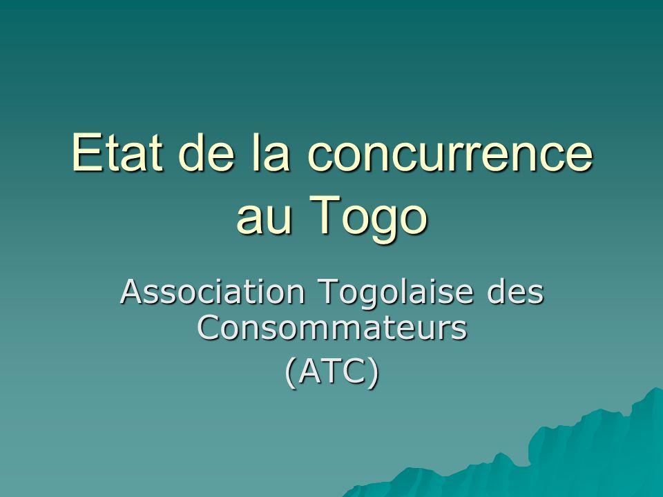 Etat de la concurrence au Togo