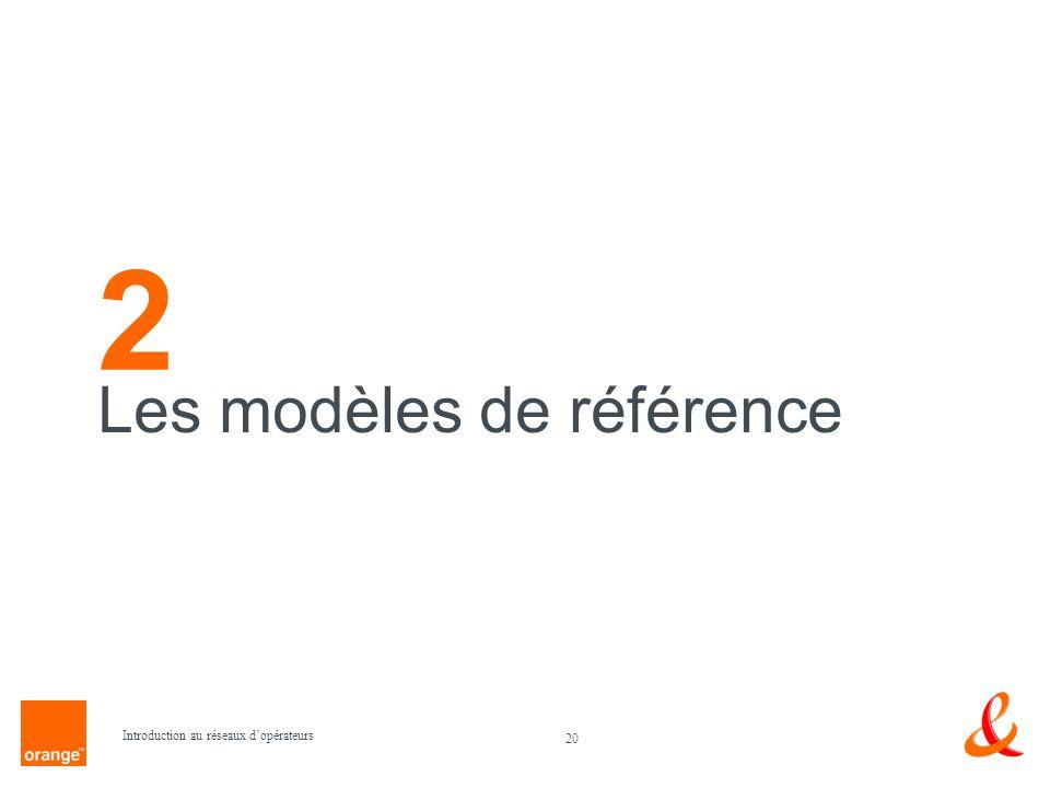2 Les modèles de référence Introduction au réseaux d'opérateurs