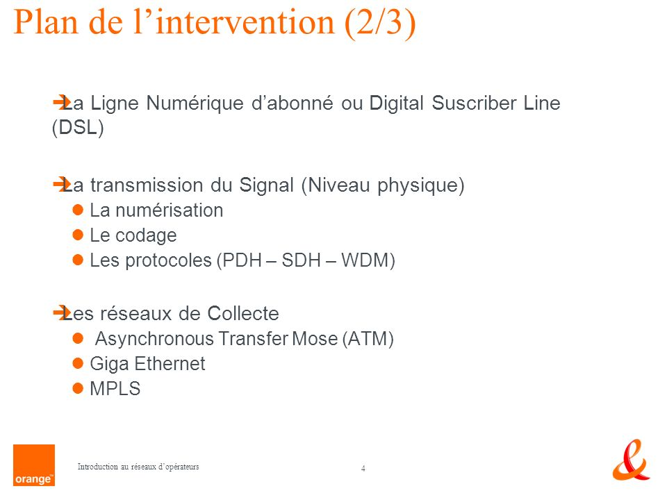 Plan de l'intervention (2/3)