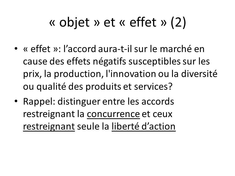 « objet » et « effet » (2)