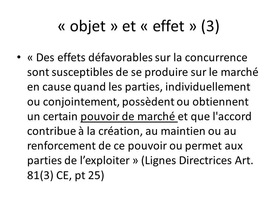 « objet » et « effet » (3)