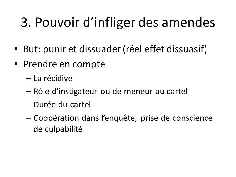 3. Pouvoir d'infliger des amendes