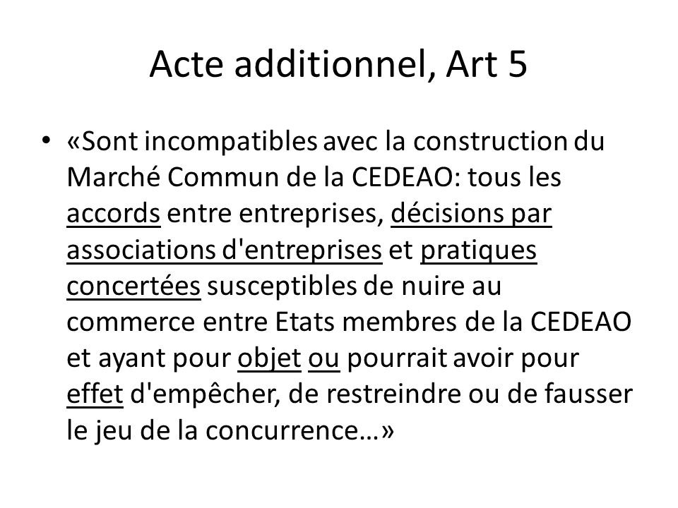 Acte additionnel, Art 5