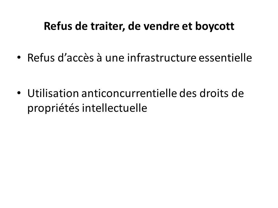 Refus de traiter, de vendre et boycott