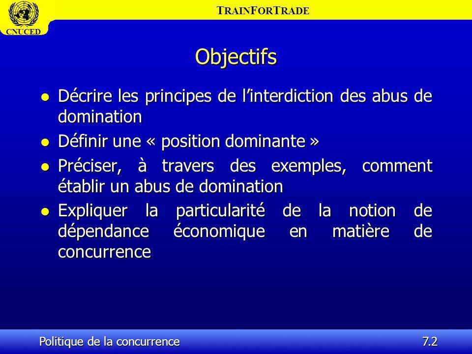 Objectifs Décrire les principes de l'interdiction des abus de domination. Définir une « position dominante »