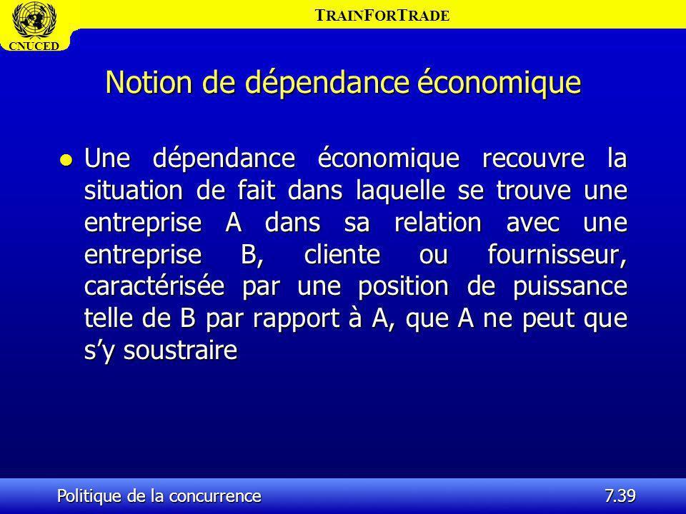 Notion de dépendance économique