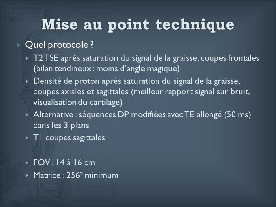 Mise au point technique