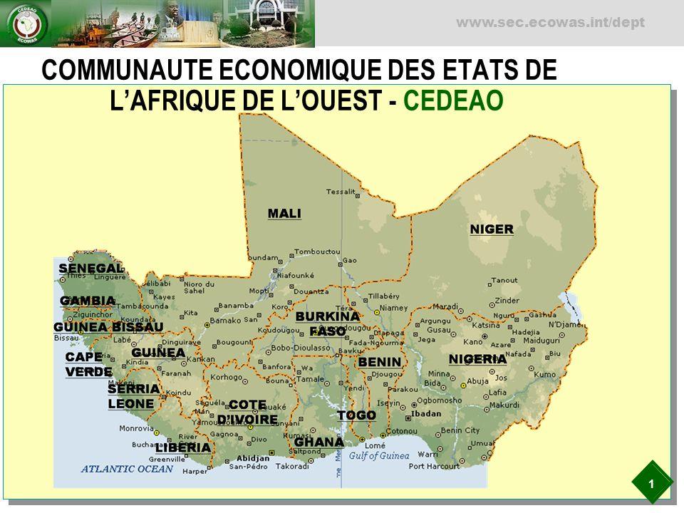 COMMUNAUTE ECONOMIQUE DES ETATS DE L'AFRIQUE DE L'OUEST - CEDEAO