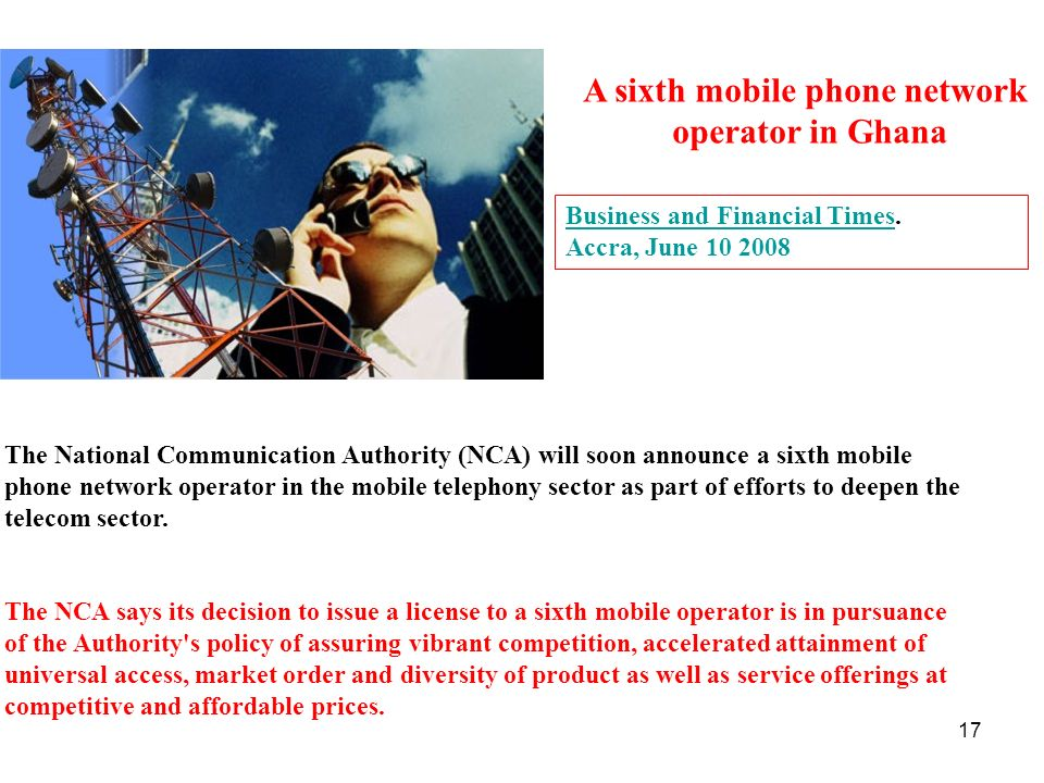A sixth mobile phone network