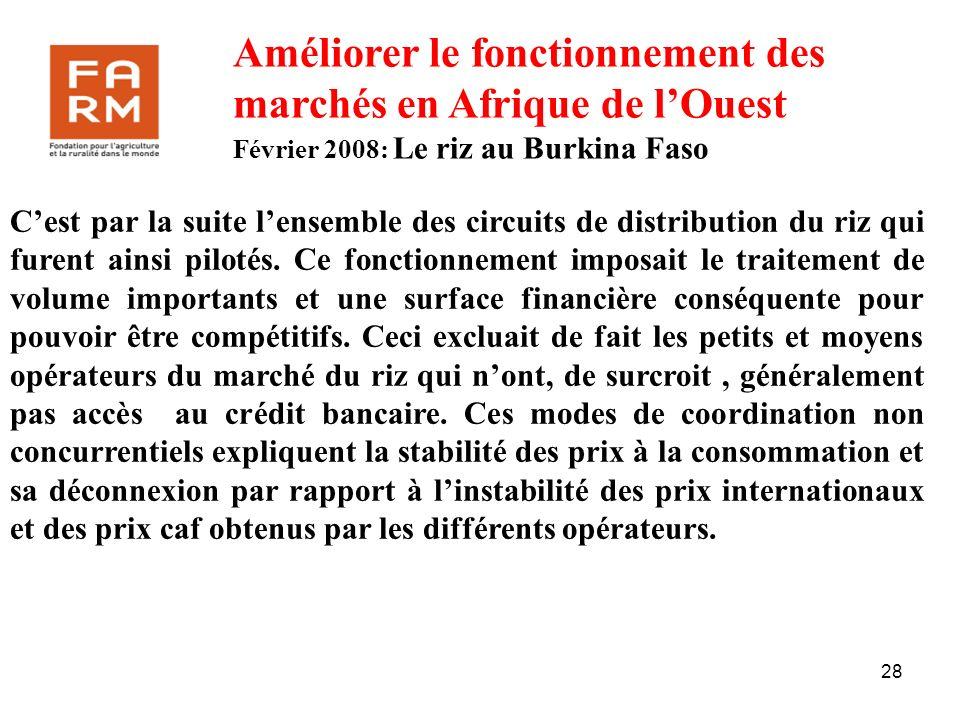 Améliorer le fonctionnement des marchés en Afrique de l'Ouest