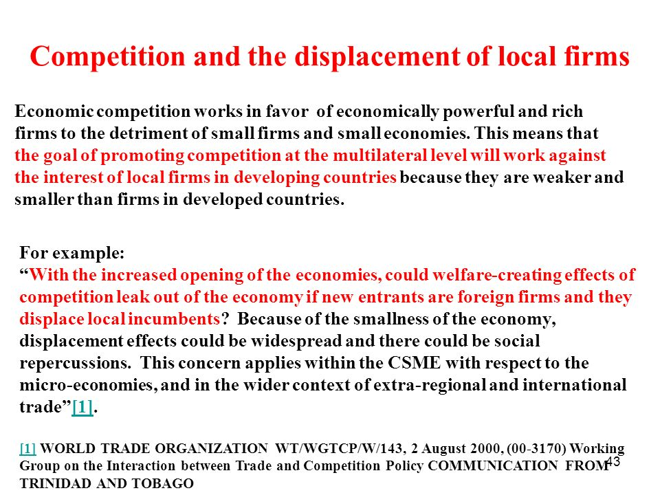 Competition and the displacement of local firms