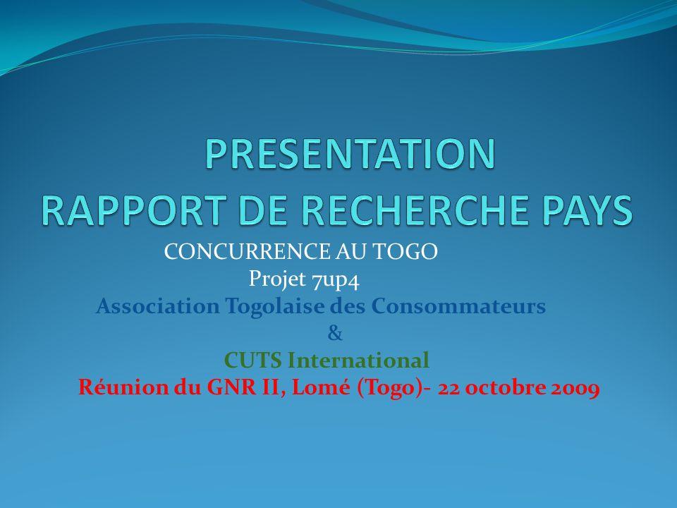 PRESENTATION RAPPORT DE RECHERCHE PAYS