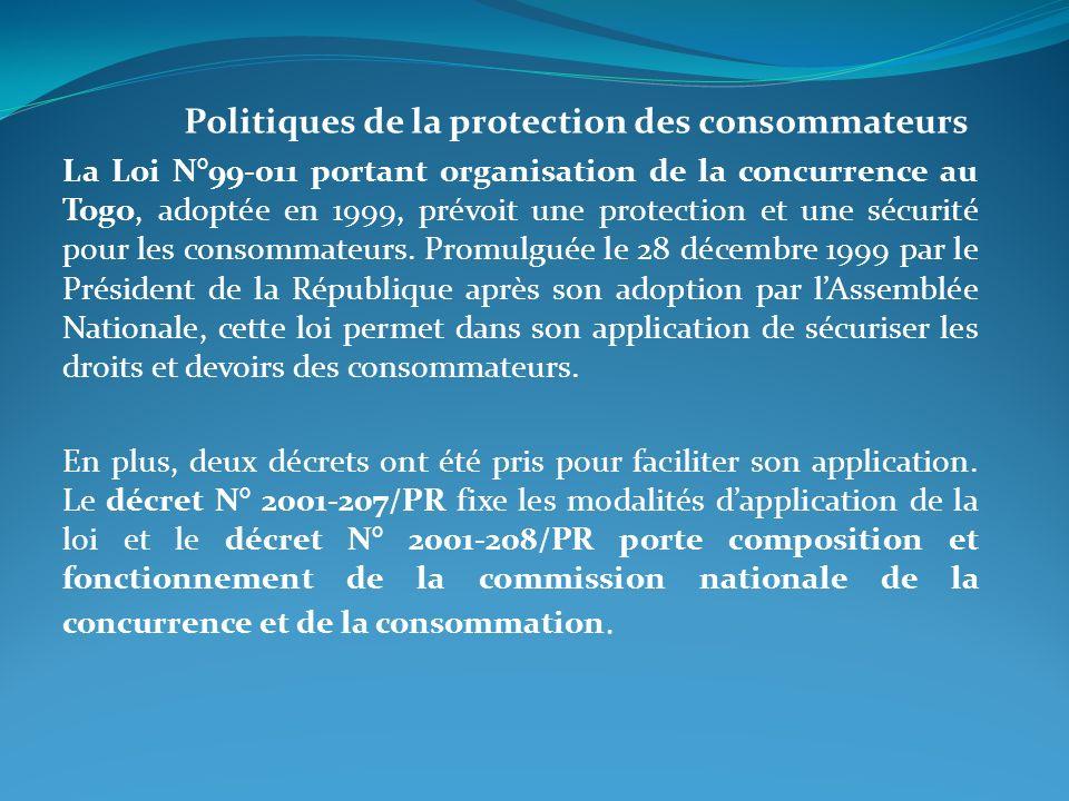 Politiques de la protection des consommateurs