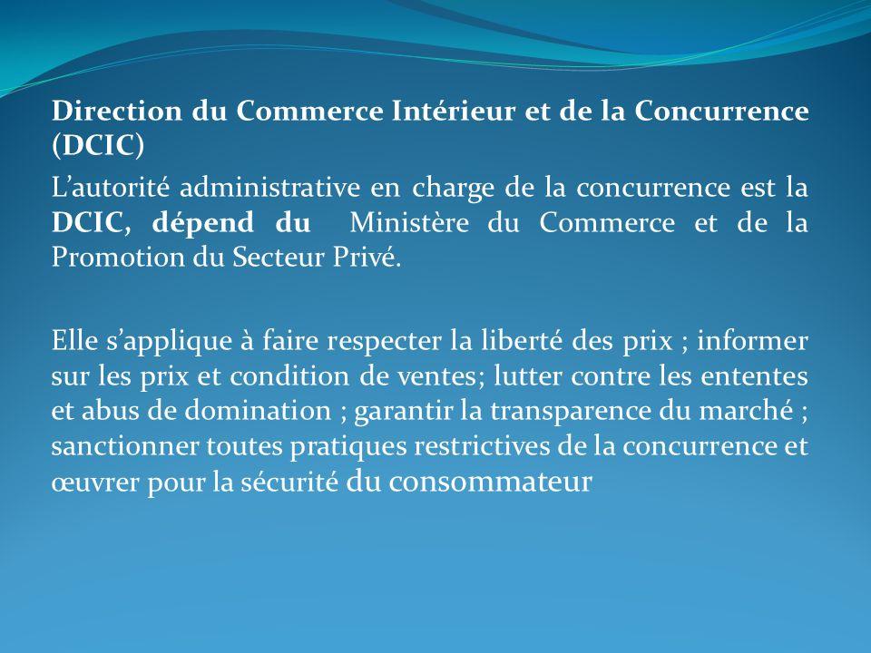 Direction du Commerce Intérieur et de la Concurrence (DCIC)