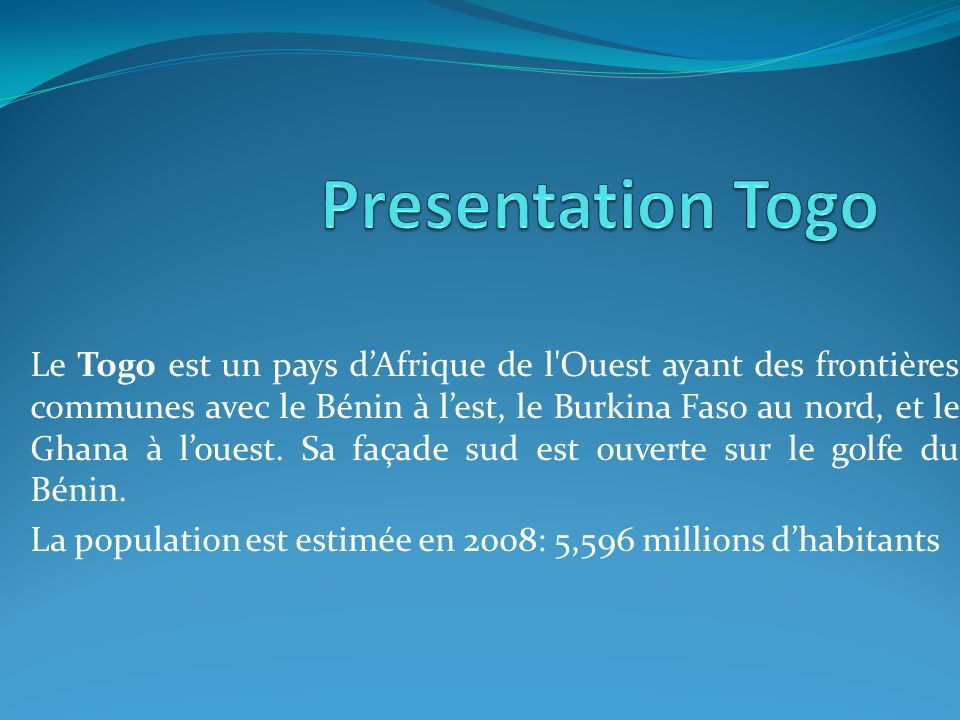Presentation Togo