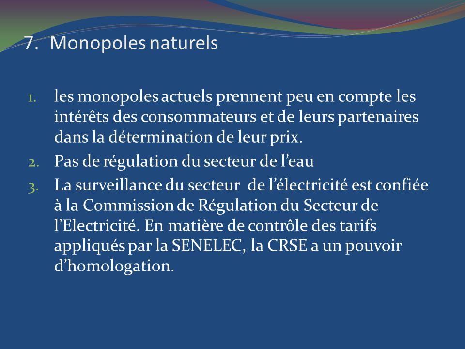 Monopoles naturels