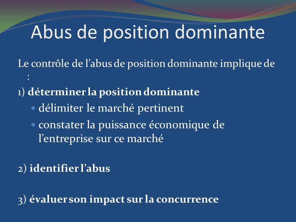 Abus de position dominante