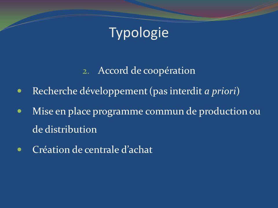 Typologie Accord de coopération