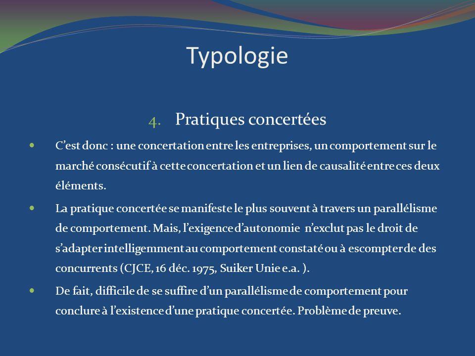 Typologie Pratiques concertées