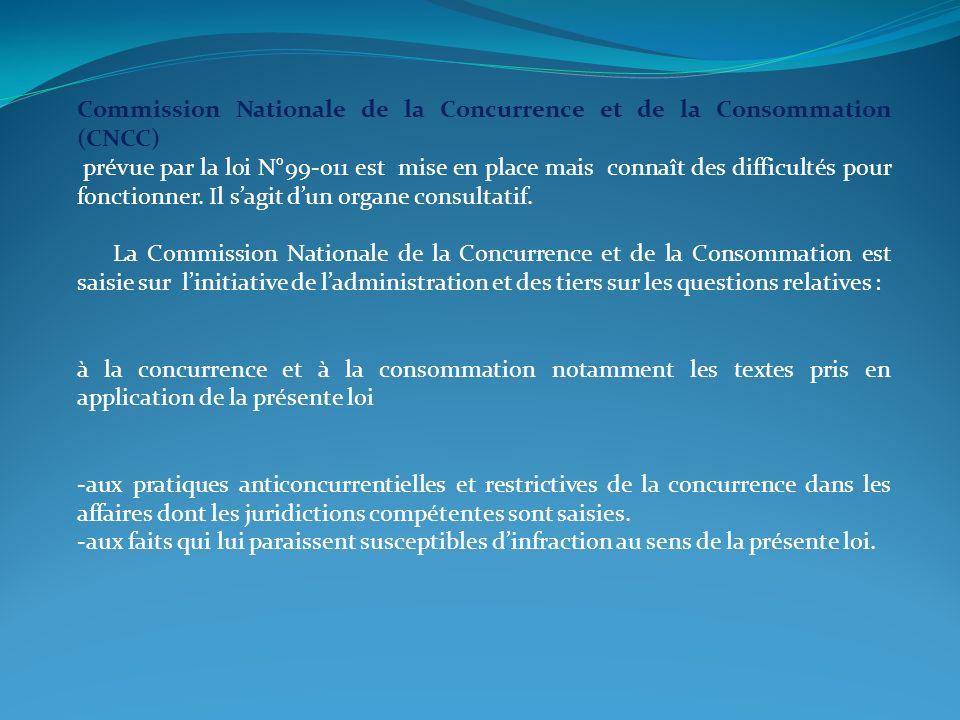 Commission Nationale de la Concurrence et de la Consommation (CNCC)