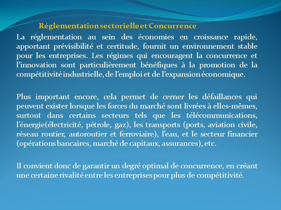 Réglementation sectorielle et Concurrence