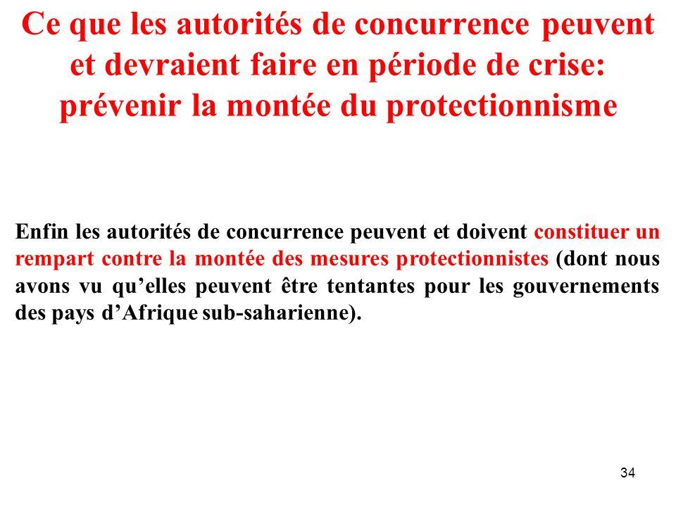 Ce que les autorités de concurrence peuvent et devraient faire en période de crise: prévenir la montée du protectionnisme
