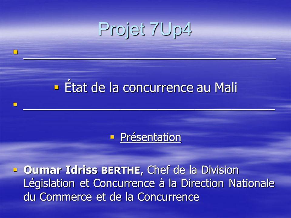 État de la concurrence au Mali