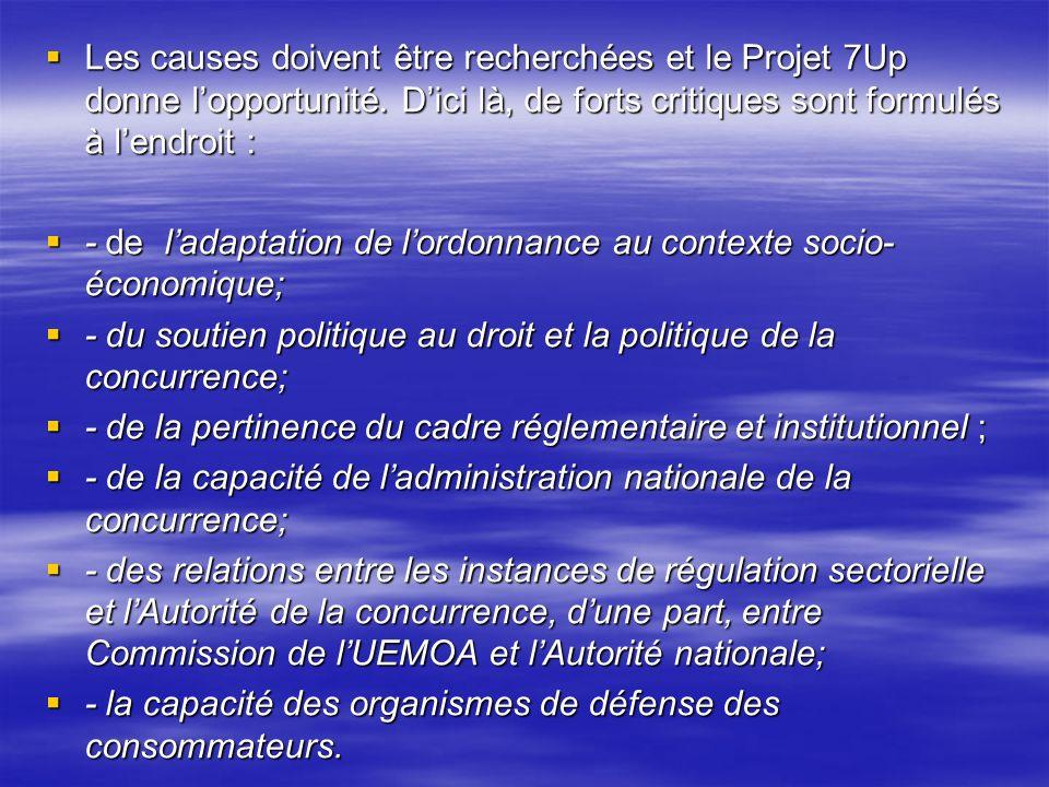 Les causes doivent être recherchées et le Projet 7Up donne l'opportunité. D'ici là, de forts critiques sont formulés à l'endroit :