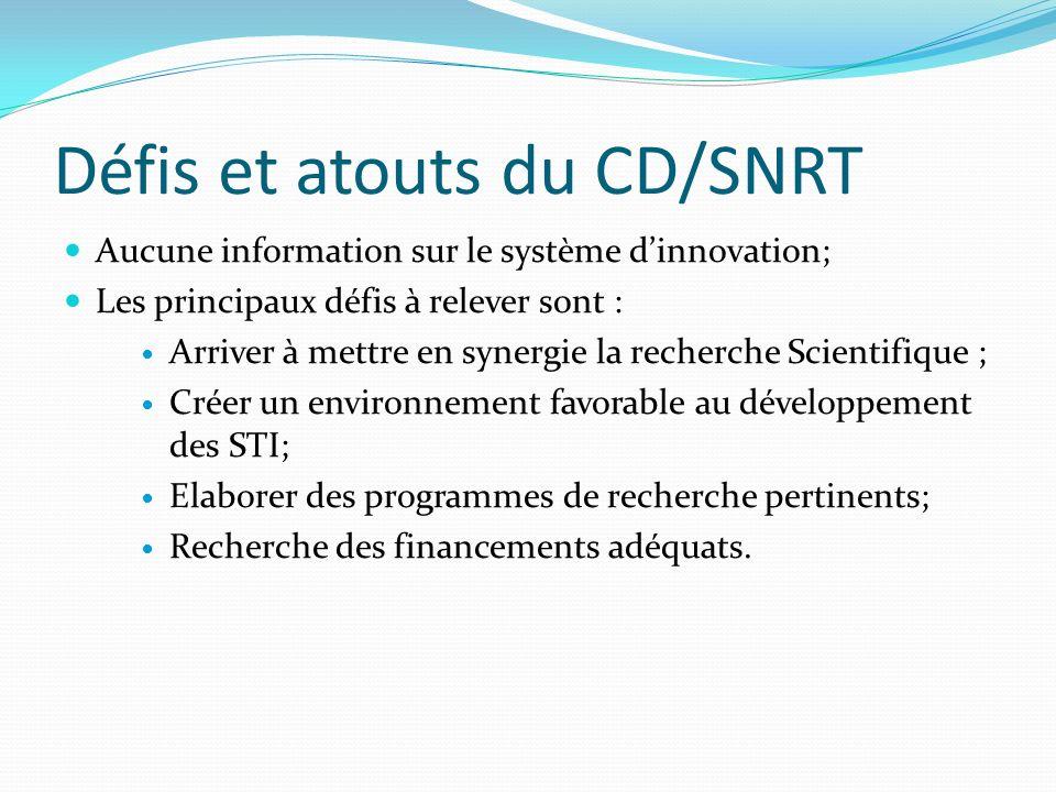Défis et atouts du CD/SNRT