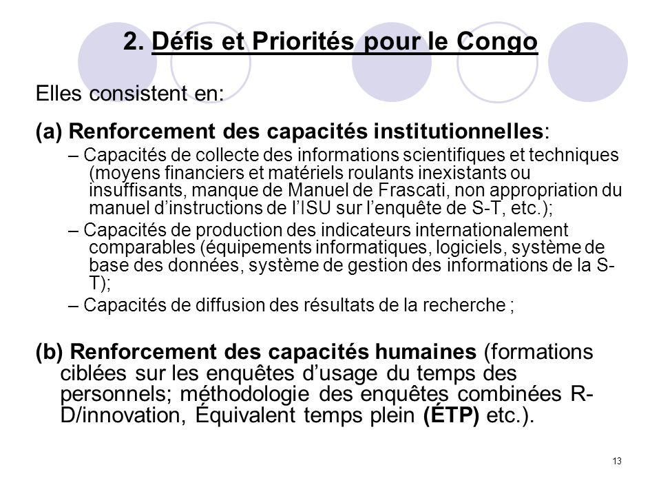 2. Défis et Priorités pour le Congo