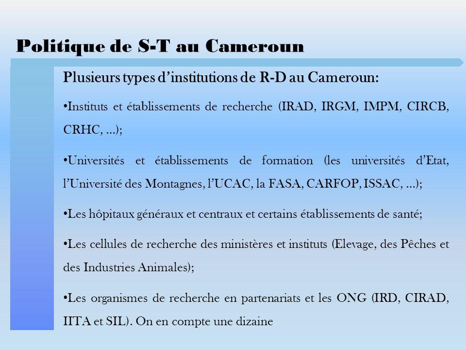 Politique de S-T au Cameroun